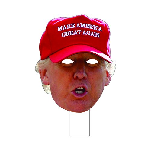 picture about Donald Trump Mask Printable identified as Damp Paint Printing + Design and style FKB38009V1P1 Donald Trump Crimson Hat Cardboard Mask