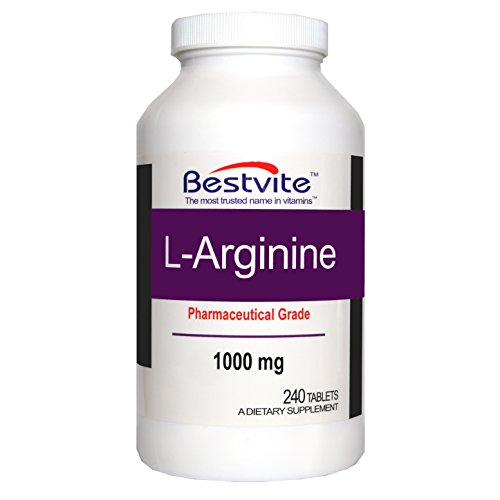 L Arginine 1000mg (240 Tablets) containing 20% more pure L Arginine as compared to L Arginine HCL products