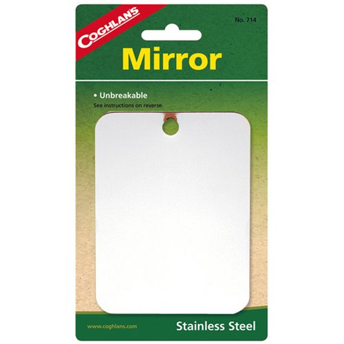 Coghlans Mirror - Coghlans 714 Stainless Steel Mirror - Quantity 12