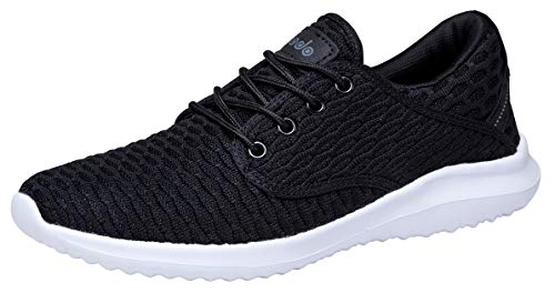 Women's White Casual Sneakers Breathable Black Shoes Athletic COODO 7dn0xaqa