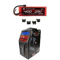 Venom 25C 2S 4100mAh 7.4 Hardcase LiPo Battery with Universal Plug and Venom Pro Duo 80W X2 Dual AC/DC 7A LiPo & NiMH RC Battery Balance Charger Money Saving Combo