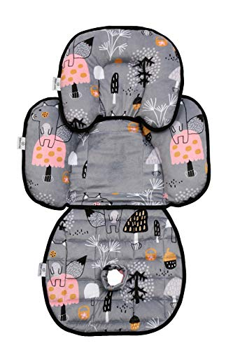 Primus Living Car Seat Insert Snuzzler with Piddle Pad Premium Quality All in One, Multifunctional, Detachable Design - Baby Head, Side, Body Support for Strollers, Prams, Bouncers, Pushchairs Swings