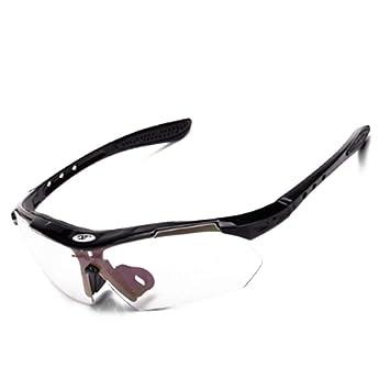 Amazon.com: Gafas de sol deportivas ligeras con marco azul y ...