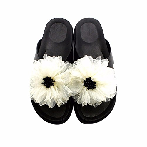 de Fond Chaussures Confortable pour Chaussons Pivoines Xin À Épais Femmes YUCH Plage RUA8zZ