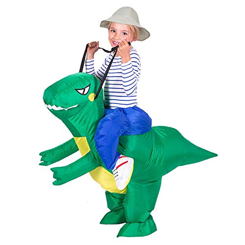 FLY-blue Party Inflatable Dinosaur T-REX Costume | Inflatable Costumes Adults| Halloween Costume | Blow Up Costume Inflatable Carnival Funny Clothes Cosplay (Green)