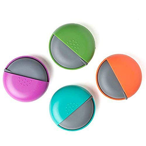 (LazyMe Decorative Pill Box for Purse Locking Small Daily Case (Group, 4))