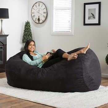 Emma 6.5ft Bean Bag   Black MADE IN USA