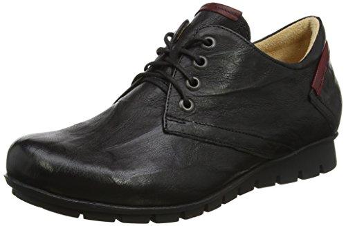 Derby Menscha 09 Negro de Zapatos Think 282070 Sz para Kombi Cordones Mujer nXPWZBZ