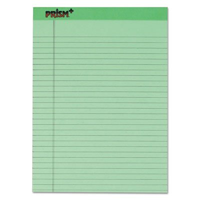 Pad Green Colored (Prism Plus Colored Legal Pads, 8 1/2 x 11 3/4, Green, 50 Sheets, Dozen)
