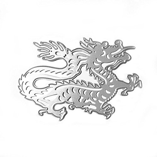 ossing Machine, FIRERO Metal Stencil Template DIY Scrapbook Album Paper Card Craft, Zodiac Sets Animals (Dragon) (Christmas Envelope Templates)