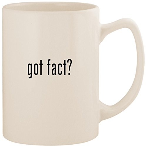 got fact? - White 14oz Ceramic Statesman Coffee Mug Cup (Interesting Facts About Jackie Robinson For Kids)