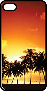 African Sunset Black Rubber Case for Apple iPhone 5c by mcsharks