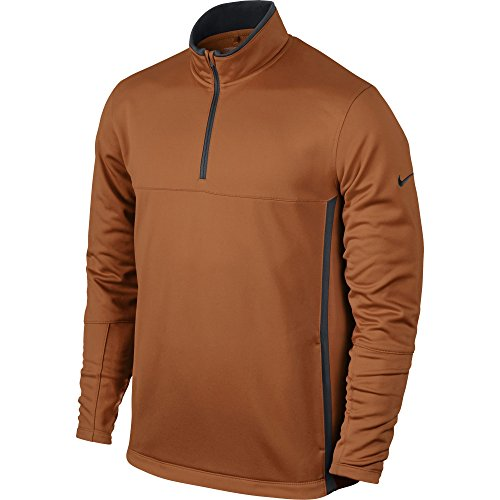 NIKE Men's Therma-FIT Cover-Up Jacket, Desert Orange/Dark Grey/Anthracite, Small