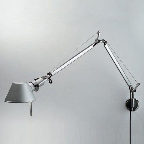 Tolomeo Mini Wall (Artemide Lighting TOL1125 Tolomeo Mini Wall Lamp Aluminum J Bracket)