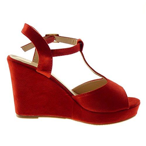 Sandale Peep Angkorly Mode Plateforme Toe Chaussure Mule Salomés IWEHD29