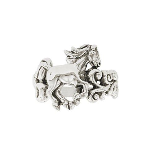 Kabana Horse Filigree Scroll Ring Size 7 ()