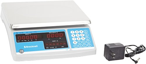 Salter-Brecknell B120 Electronic Counting Scale with LED Display, 8-3/4'' Length x 11-1/2'' Width x 1/2'' Height, 30lbs Capacity by Salter Brecknell