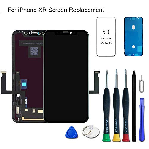 (VANYUST for iPhone Xr Screen Replacement, LCD Display Touch Screen Digitizer Assembly with Waterproof Frame Adhesive Sticker for iPhone Xr 6.1 inch)