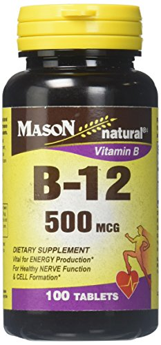 Mason Vitamins B 12 500 mcg Tablets, 60 Count 500 Mcg 60 Tabs