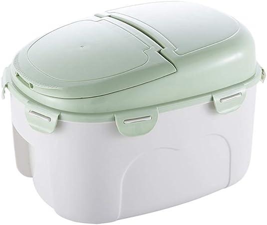 Arroz cubo cubo arroz cilindro almacenamiento doméstico caja de arroz 10 kg con tapa a prueba de humedad caja de almacenamiento de arroz a prueba de humedad gran capacidad de almacenamiento: Amazon.es: