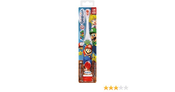 Amazon.com: Spinbrush Super Mario Powered Kids Toothbrush by Church & Dwight - Personal Care: Beauty