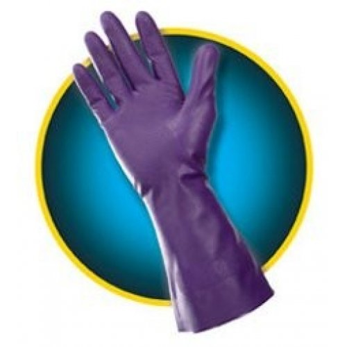 Kleenguard Purple Nitrile Chemical Resistant Gloves G80; 1 Pair; Size 9 (Large); 97317