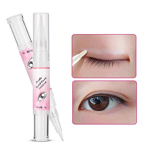 Eyelid Glue Invisible Long Lasting Natural Eyelash Eyelid Pen Waterproof Permanent Shaping, with Y Stick for Girls/Women Beauty