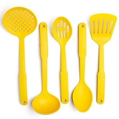 Cook's Corner 5-Piece Nylon Kitchen Utensil Set (Yellow)