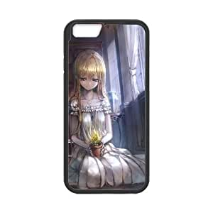 Blonde Girl In The Library Anime0 iPhone 6 4.7 Inch Cell Phone Case Black 05Go-243085