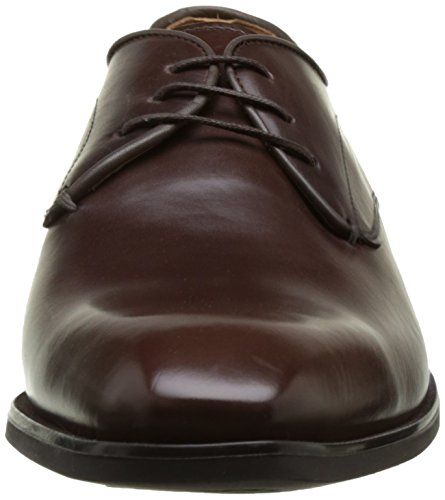 Geox U New Life a, Zapatos de Cordones Derby para Hombre Marrón (Ebony)