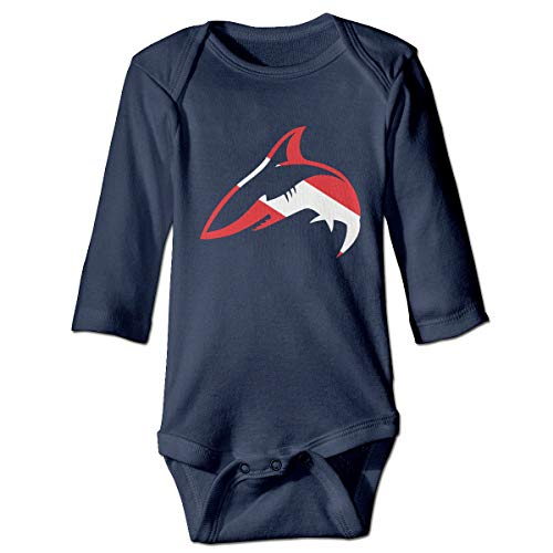 Goldsmith Sally Diver Down Shark Scuba Diving Unisex Baby Infant Organic Cotton Long-Sleeve Bodysuits Onesies for $<!--$18.33-->