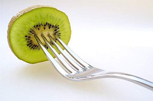 Home Comforts Peel-n-Stick Poster of Fork Fruits Kiwi Fruit Green Vivid Imagery Poster 24 x 16 Adhesive Sticker Poster Print