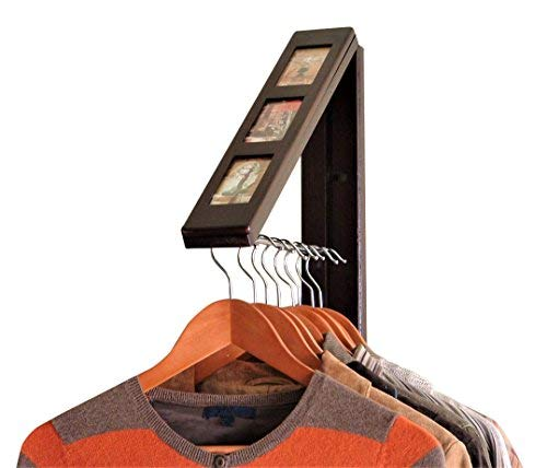 (InstaHANGER Picture Perfect Closet Organizer, The Original Folding Drying Rack, Wall Mount)