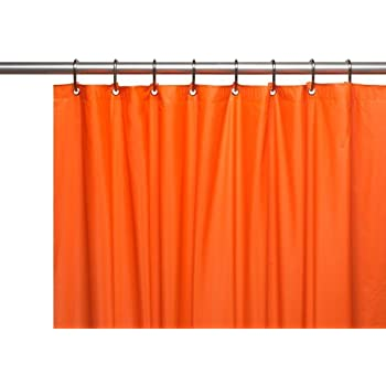 Amazon.com: Shower Curtain Liner - Bright Colors (Orange): Home ...