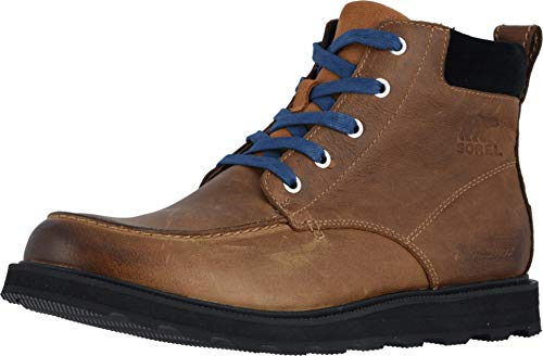 Sorel - Men's Madson Moc Toe Waterproof Boot, All-Weather Footwear for Everyday Wear, Elk, 8.5 M US