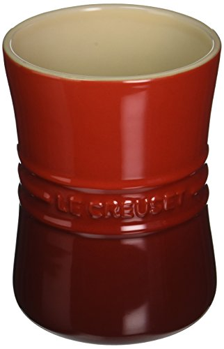 Le Creuset Stoneware 1-Quart Utensil Crock, Cerise (Cherry Red)