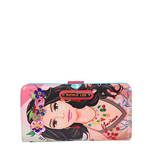 Color and Style Mini Clutch Wallet with Exclusive Print and Detachable Bracelet Wristlet and RFID Blocking (Yarissa) (Nylon Print Wallet)