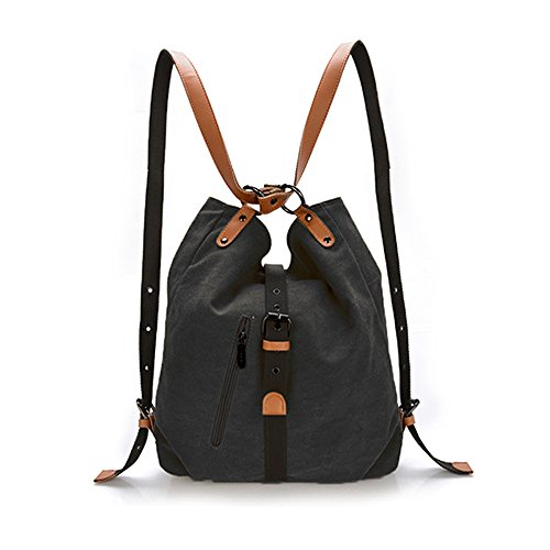 Women Shoulder Bag Yolin Ladies Fashion Backpack Purse Multifunctional Casual Backpack Canvas Crossbody Bag by YoLin