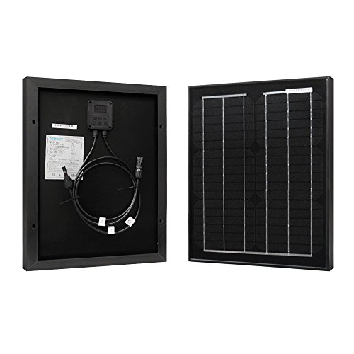 Renogy 20W 12V Monocrystalline Solar Panel High Efficiency Module Off Grid PV Power for Battery Charging, Boat, Caravan, RV and Any Other Off Grid Applications