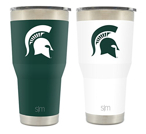 Simple Modern Michigan State University 30Oz Cruiser Tumbler 2 Pack   Vacuum Insulated Stainless Steel Travel Mug   Msu Spartans Tailgating Hydro Cup College Flask