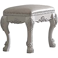 ACME Dresden Antique White Vanity Stool