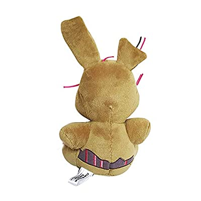 FNAF Plush Five Nights at Freddy's Nightmare Springtrap Funtime Freddy Chica Mangle Foxy Bonnie Plush Keychain Pendant Toy Brown: Clothing