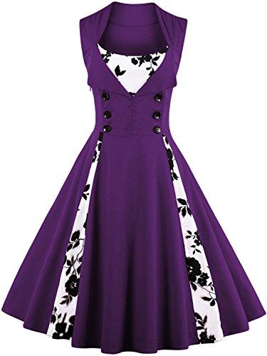 50s style bridesmaid dresses purple - 2