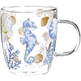 Cypress Home By the Sea Glass Coffee Cup, 12 ounces