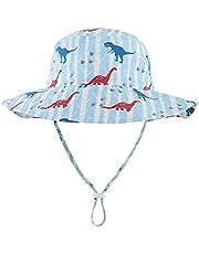 LLmoway Kids UPF50+ Bucket Sun Hat Baby Toddler Adjustable Wide Brim Beach Hat