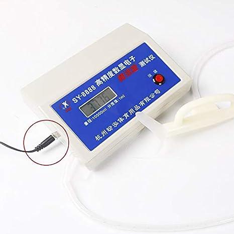Espirómetro electrónico digital automático 4 bits Clínica de pantalla LCD de alta definición u hogar con boquilla desechable de 20 piezas