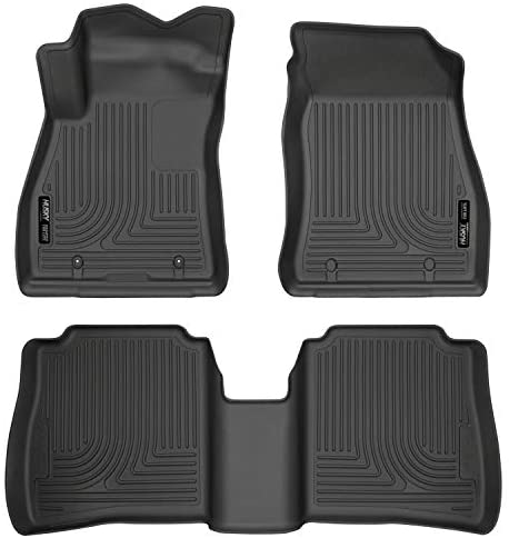 Husky Liners 95631 Fits 2014-19 Nissan Sentra One Weatherbeater Front & 2nd Seat Floor Mats , Black