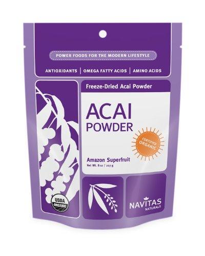Navitas Naturals Acai Powder, 8-Ounce Pochettes