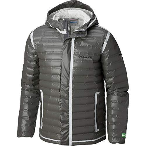 Bamboo Jacket Mens - Columbia Titanium Outdry Ex Eco Down Jacket - Men's Bamboo Charcoal, XL