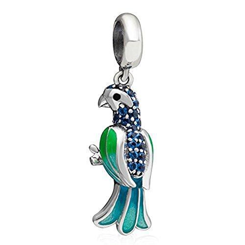 Dangle Charms Parrot Animal...